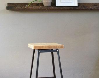 Urban Bar Stool | Reclaimed Barn Wood | No Backrest