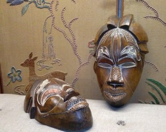 African Mask Etsy