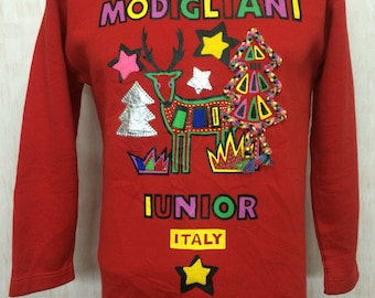 Vintage Deadstock with tags MODIGLIANI iunior Italy Greeting Sweatshirt