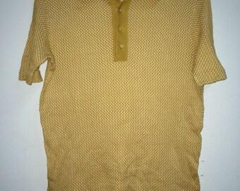 vintage 70s used mint confezioni lusso Italians la paix Paris polo shirt stretch cotton medium
