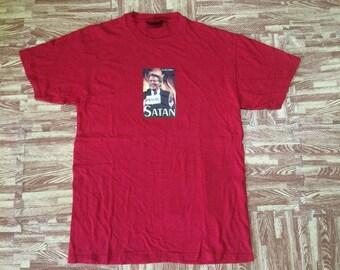 Vintage 90s SERIAL KILLER -satan- Movie Tshirt Made In Usa Medium Size