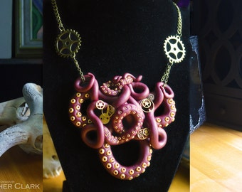 Steampunk Tentacle Statement Necklace