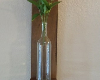 Two Wall Mounted Wine Bottle Sconce