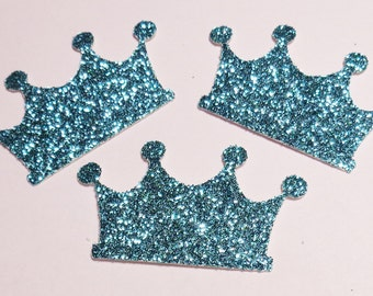 Large Turquoise  Crown Confetti