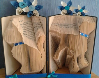 Dog or Cat book Fold, dog lovers, cat lovers, keepsakes, animal gifts,
