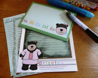 Cute Stationery Set: Griselda the Grizzly Bear