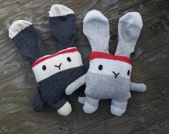 Bunny rabbit plush Doggie socks