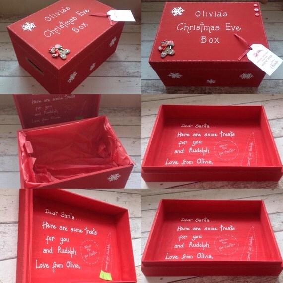 Items similar to handmade personalised christmas eve box