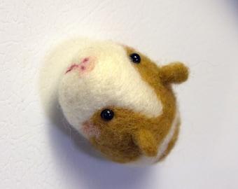 Miniature Guinea pig Magnet -Felted Guinea pig Magnet -Needle Felted Guinea pig Magnet-Guinea pig Doll-Animal Magnet-Animal Home Decor