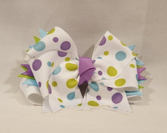 Pastel Party Dots Hairbow