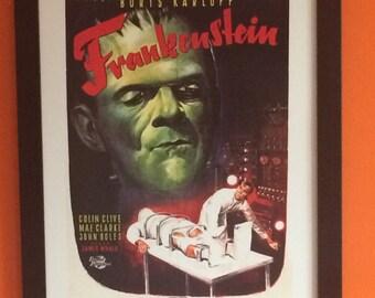 Framed Cult Movie Poster - Frankenstein 1931 - 40 Cms X 30 Cms