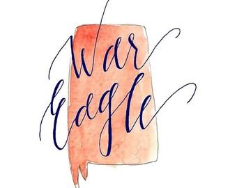 War Eagle State Print