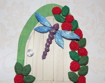 Fairy Door, Dragonfly fairy door, faery door, hobbit door, magical door, magic door, elf door, fairy house, fairy accessories, whimsical