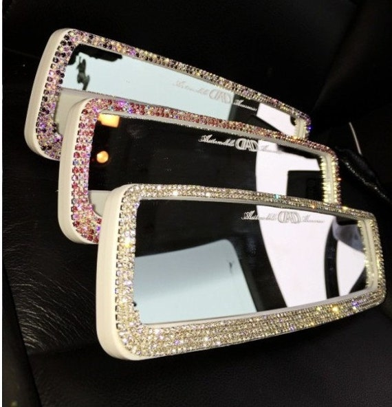 Unique girl gift rhinestone bling car accessories for women for Unusual decorative accessories