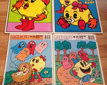 1980s Pac Man Puzzle Collection