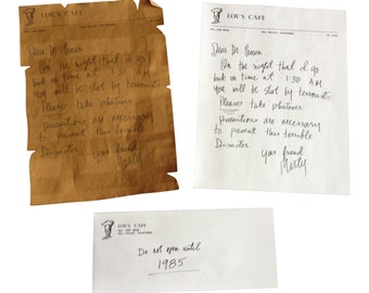 Back To The Future Vintage Letter Set Marty McFly To Doc Brown Prop Replica