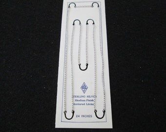 "BLOWOUT SALE>>>Solid Sterling Silver 24"" chain, endless, 2mm wide > Brand NEW"