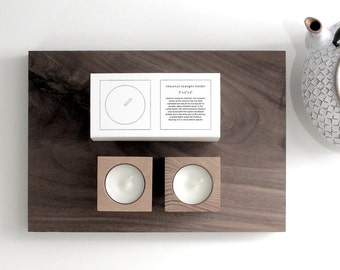 tealight candleholder [chestnut]