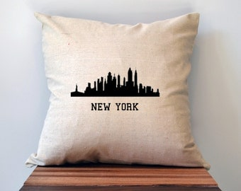 New York Skyline Pillow Cover, 18 x 18 Pillow Cover, NYC Pillow Cover, New York City Christmas Gift, Cyber Monday Sale