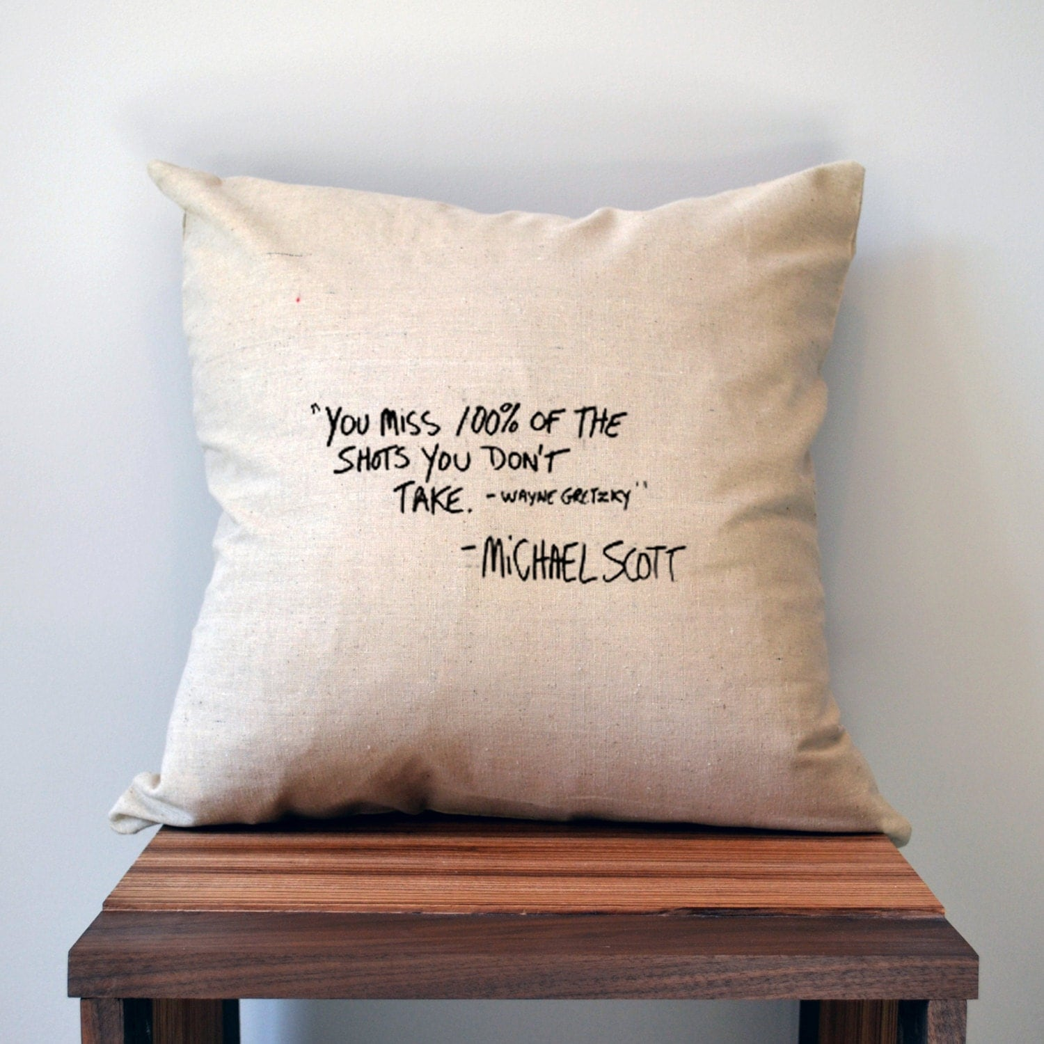 Throw Pillows With Quotes On Them : The Office Pillow Cover Michael Scott Quote Pillow Cover 18