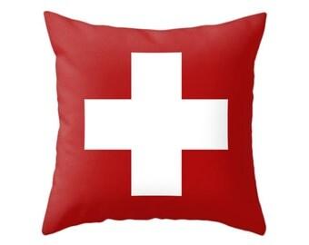 swiss cross pillows 5 colors options throw pillow cross design cushion home