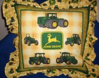 John Deere Pillow-Yellow
