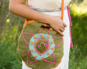 Knit Bag Pattern - Knit Tote Pattern - Knit Tote Bag Pattern - Knit Purse Pattern - Tote Bag Knitting Pattern - Knitting Pattern