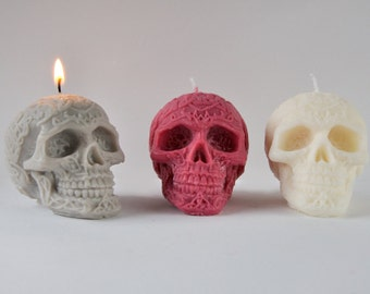 Skull Ya Later Trio - Handmade Vegan Soy Skull Candle - Goth Chic