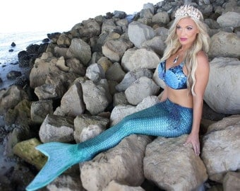 "Mermaid Bra ""Blue Moon Mermaid"""
