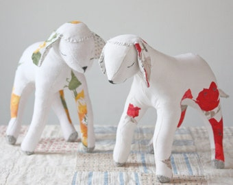 a sewing pattern : sleepy lamb and goat