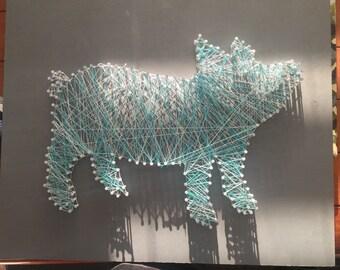 Pig string art board