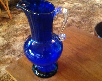 Vintage Cobalt Blue Pitcher