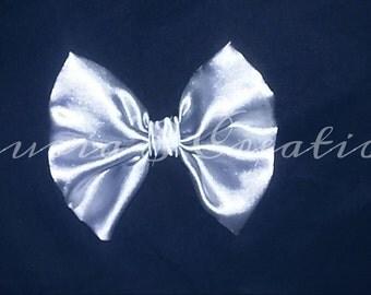 satin clip bow