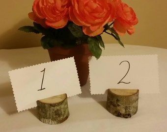 12 Wooden Place Card Holders, Rustic Wedding Decor, Rustic Place Card Holders, Rustic Tree Card Holders, Rustic Wedding Supplies