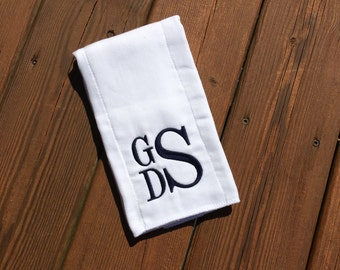 Monogrammed Burp Cloth- Personalized - Monogram - Baby Gift- Burpcloths