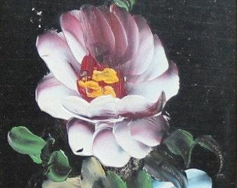 Vintage oil painting impressionist still life flowers