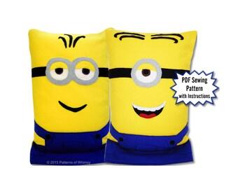 Minions Fleece Pillow Case PDF Pattern