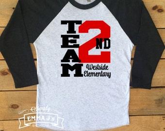 Teacher shirt, teacher, teacher gift, gift ideas, teach, baseball shirt, school spirit, first grade team, second grade team, school team