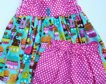 Cupcake Tunic and Bloomers set