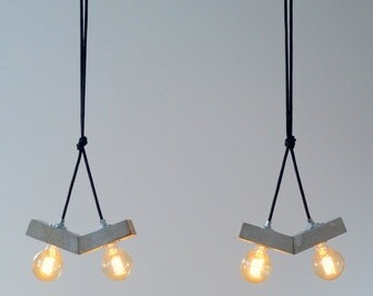 papilio: concrete lamp. pendant lamp. Ceiling light.
