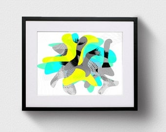 Abstract Dancers, Digital Art Download, Printable Abstract Art, Instant Download, Printable Wall Art, Digital Art Download, Abstract Art
