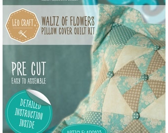 Waltz of Flowers (pillow cover quilt kit)