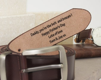 Personalised Men's Leather Belt-personalised leather belt for men-men's leather belt engraved with personal message-gift for dad-men's gift