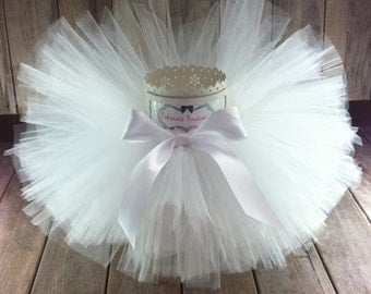 Tutu, White Tutu, Baby Tutu, Toddler Tutu, Christening Tutu, Baptism Tutu, Infant Tutu, Newborn Tutu, 1st Communion Tutu, Girls Tutu