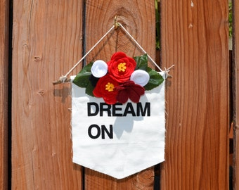 SALE! DREAM ON Baby Room Wall Hanging