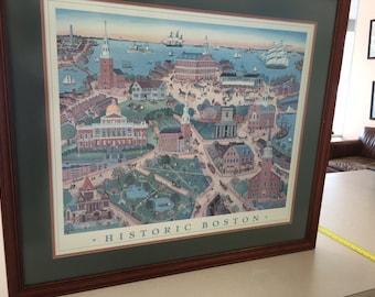 "Marie E. Fox print titled ""Historic Boston"""
