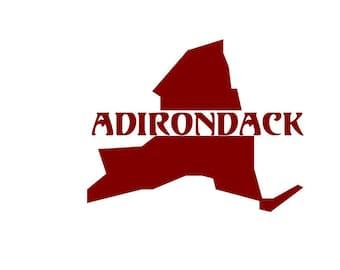 NY State, Adirondack Decal, upstate NY, Adirondacks,