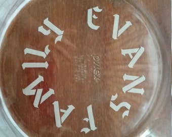 etched bakeware, etched pie plate, Custom pie plate, personalized pie plate,Etched pie plate, name pie plate,