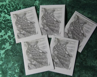 Owl Note Card Set