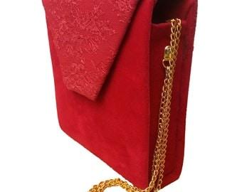 Stylish Red clutch bag